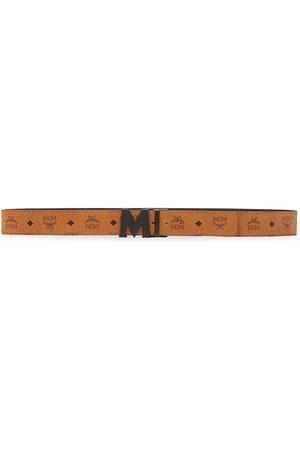 MCM Men's Claus Reversible Cut-To-Size Logo Belt - Cognac
