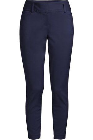 Donna Karan Women Pants - Women's Marina Tech Cotton-Blend Pants - True Navy - Size 4