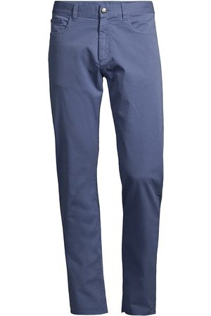 CANALI Men's Microtwill Regular-Fit Comfort Stretch Jeans - - Size 38