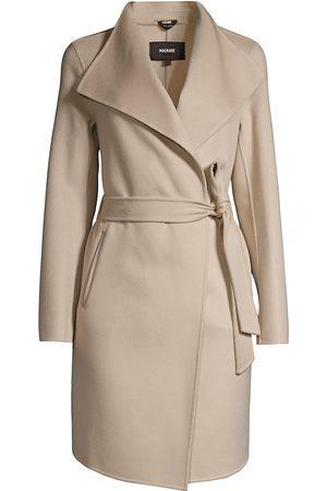 Mackage Women's Laila Belted Wool Coat - Sand - Size XS