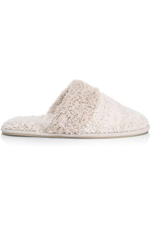 Barefoot Dreams Women's The CozyChic Coastal Slipper - Heathered Pearl - Size Large