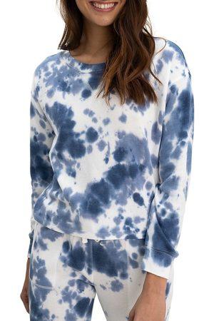 Splendid Women's Cloud Tie Dye Pullover - Navy - Size Medium