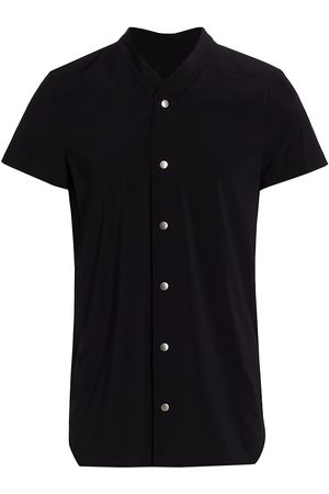 Rick Owens Men's Short-Sleeve Golf Shirt - - Size 36