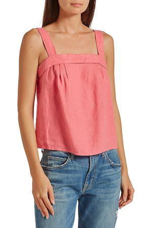 Joie Women T-shirts - Women's Ami Linen Top - Rose Blossom - Size XS