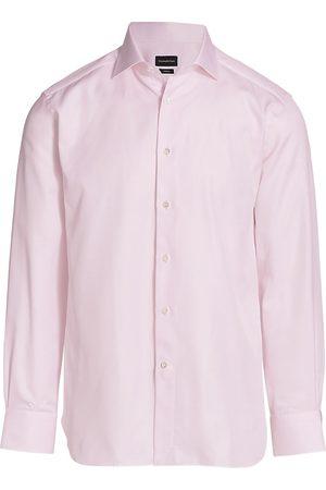 Ermenegildo Zegna Women T-shirts - Women's Trofeo Textured Sport Shirt - Bright Solid - Size 18.5