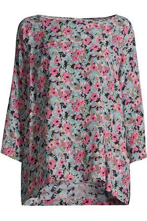 M Missoni Women's Floral Long-Sleeve Blouse - Peony Rose - Size Medium