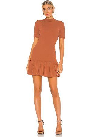 A.L.C. Aston Dress in Burnt Orange.