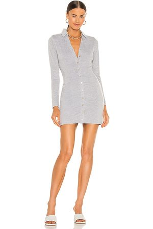 NBD Farris Button Up Mini Dress in Grey.