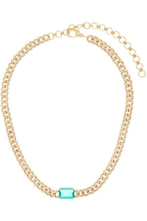 Shay Women Necklaces - Diamond Pavé, Emerald And 18kt Choker - Womens