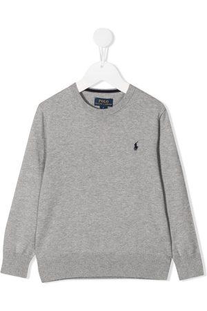 Ralph Lauren Logo-embroidered jumper - Grey