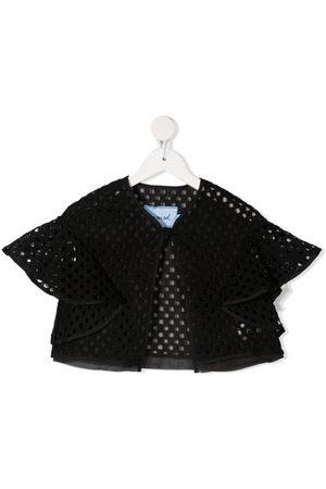 Mimisol Embroidered ruffle-trim jacket