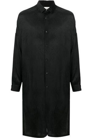 Saint Laurent Men Shirts - Jacquard-woven long shirt
