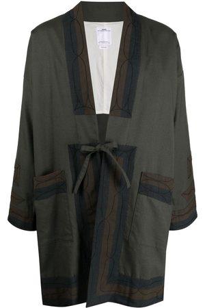VISVIM Men Neckties - Drop-shoulder tie-fastening jacket