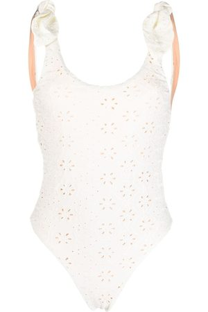 P.a.r.o.s.h. Women Swimsuits - Floral embroidery swimsuit