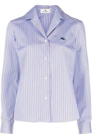 Etro Women Shirts - Logo-embroidered striped shirt