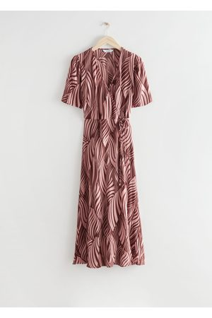 & OTHER STORIES Printed Midi Wrap Dress