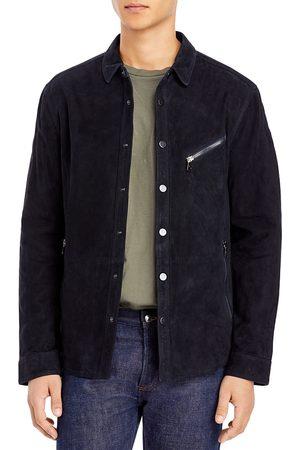 John Varvatos Men Leather Jackets - Suede Shirt Jacket