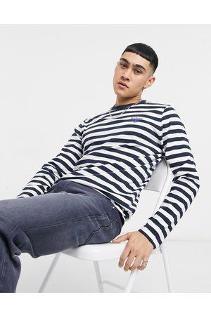 Barbour Beacon Long sleeve striped sweatshirt in navy