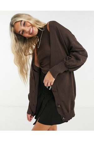 Heartbreak Women Cardigans - Oversized cardigan in chocolate