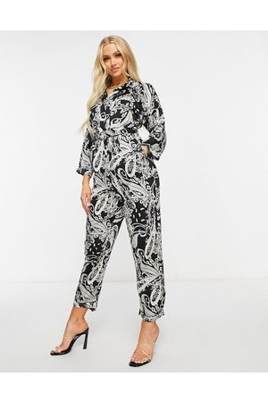 Ax Paris Wrap jumpsuit in paisley-Multi