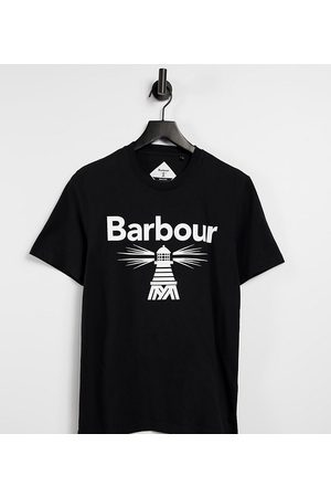 Barbour Beacon Large logo t-shirt in Exclusive at ASOS