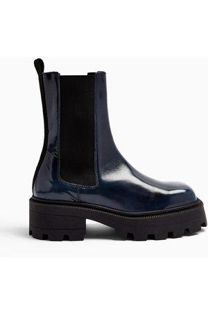 Topshop Women Chelsea Boots - Angel navy chelsea boots