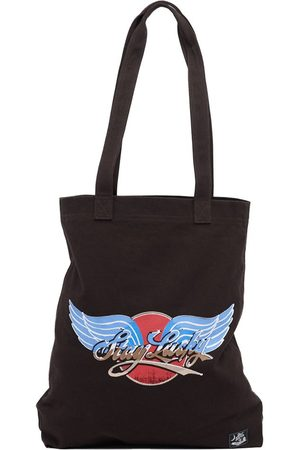 Superdry Canvas Graphic Tote One Size Blackbean