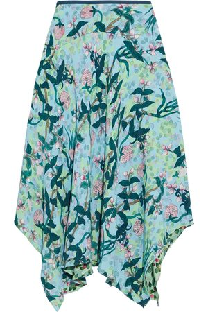 Diane von Furstenberg Women Printed Skirts - Woman Aileen Reversible Asymmetric Floral-print Crepe Skirt Light Size L
