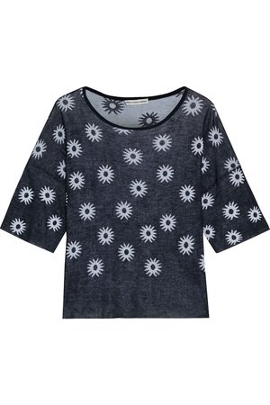 AUTUMN CASHMERE Women Tops - Woman Jacquard-knit Cotton Top Midnight Size XS