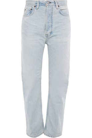 Acne Studios Woman Faded High-rise Straight-leg Jeans Light Denim Size 24W-32L