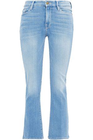 Frame Women Bootcut - Woman Le Crop Mini Boot Mid-rise Bootcut Jeans Light Denim Size 23
