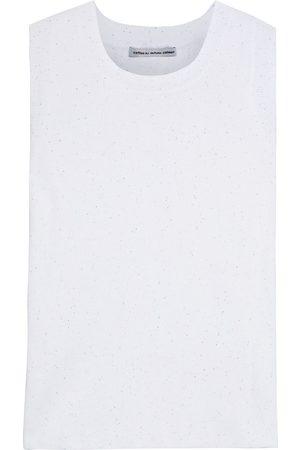 AUTUMN CASHMERE Woman Sequin-embellished Cotton Top Size M
