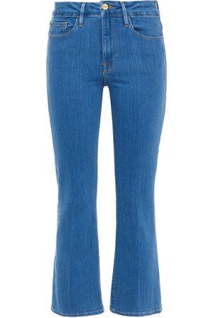 Frame Woman Le Crop Mini Boot Mid-rise Bootcut Jeans Light Denim Size 23