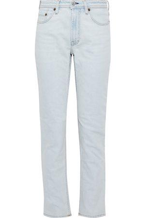 Acne Studios Women High Waisted - Woman South High-rise Straight-leg Jeans Light Denim Size 23W-32L