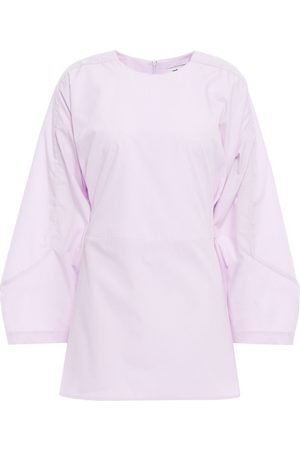 Each x Other Women Tops - Woman Lace-up Poplin Top Lilac Size L