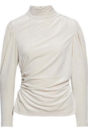 A.L.C. Woman Joss Ruched Chenille Turtleneck Top Off- Size 2