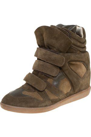 Isabel Marant Suede Bekett Wedge Sneakers Size 40