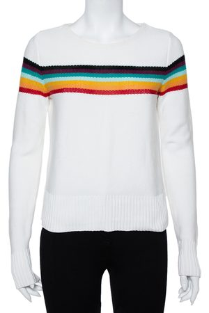 Chloé Women Cardigans - Knit Rainbow Stripe Detail Jumper S