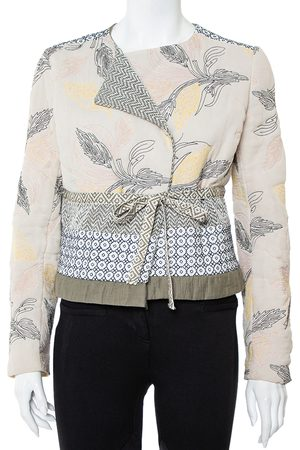 Tory Burch Floral Embroidered Tie Detail Jacket M
