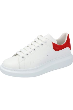 Alexander McQueen White/ Leather Oversized Low Top Sneakers Size EU 41