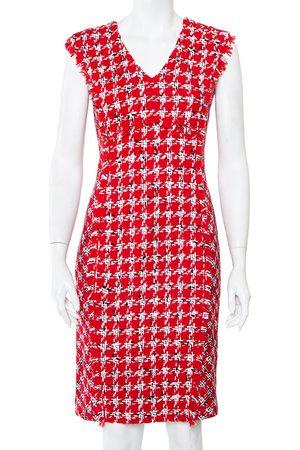 Carolina Herrera CH Tweed Sleeveless Sheath Dress M
