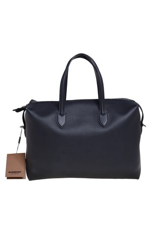 Burberry Leather Lawrence Holdall Weekend Bag