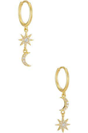 Adina's Jewels Celestial Huggie in Metallic .