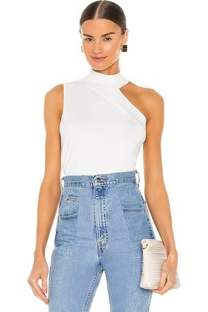 525 America One Shoulder Turtleneck Tank in .