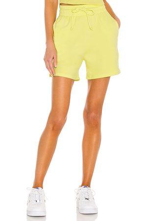 Frankies Bikinis Burl Sweatshort in Yellow.