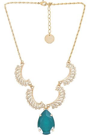 Anton Heunis Women Necklaces - Pave Feathers Pendant Necklace in Metallic Gold.