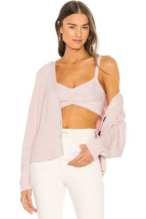AUTUMN CASHMERE Chunky Bra Top in Pink.
