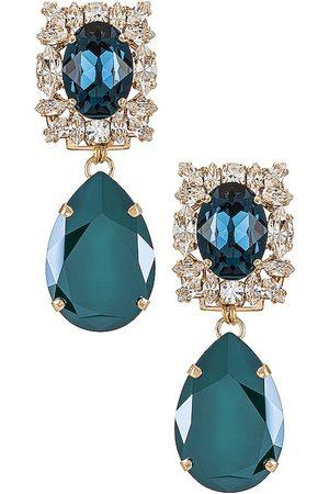 Anton Heunis Women Earrings - Crystal Drop Earring in Dark .