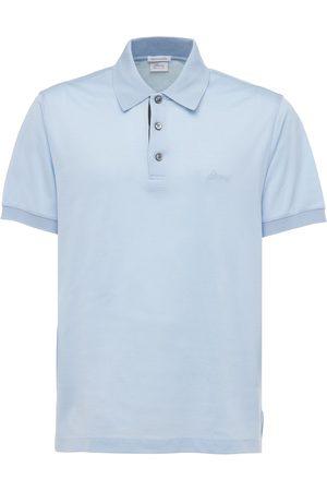 BRIONI Men Polo Shirts - Logo Embroidery Cotton Polo