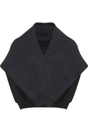 Balenciaga Logo Cotton Blend Jersey Hoodie